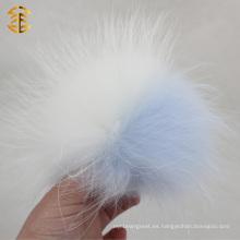 Paleta de piel de mapache de calidad superior Pom Pom Ball tintado Pomelos de piel de mapache
