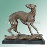 Brass decoration dog statue