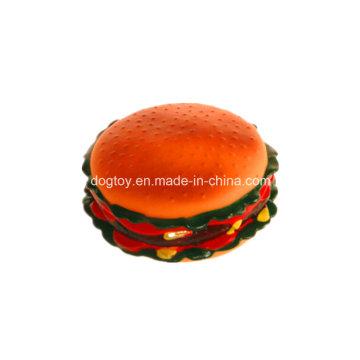 Énorme jouet pour animaux de compagnie hamburger en vinyle