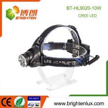 Factory Supply Aluminium Le plus puissant de longue portée Hunting Camping Mining 2 * 18650 Rechargeable 10w Cree xml t6 led Headlamp