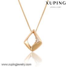 32731-wholesale turkish jewelry 18k gold double sided pendant