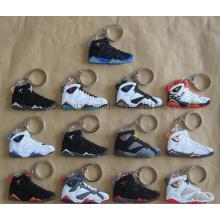 Chaîne de porte-clés de porte-clés de trousseau de PVC de chaussures faites sur commande pour le souvenir