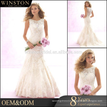 High Quality Custom Made wedding dresses with removable skirt