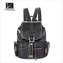 Custom high grade genuine leather laptop backpack
