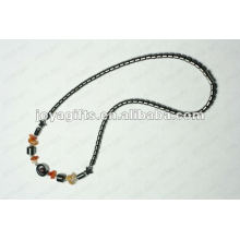 Magnetic Hematite Carnelian Chip beaded Necklace