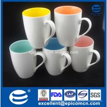 Colorido Hight Qualidade Hot Sale White Blank Cerâmica New Bone China Sublimação Caneca de café e Copa