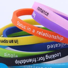 2016 Hot Selling Engraved Logo Silicone Fashion Bracelet