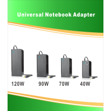 40W Universal Laptop Adapter med 8 kontakter