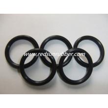 O anel de borracha preta