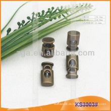 Metallkordelstopper oder Knebel für Kleider, Handtaschen und Schuhe KS3003