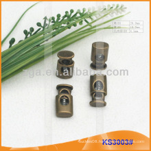 Metal cord stopper or toggle for garments,handbags and shoes KS3003