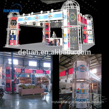 Detian offer exhibition booth material stand display truss modular four side open booth