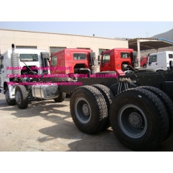 6x4 White color Sinotruk cargo truck chassis