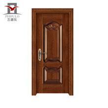 O tipo do baixo preço aceitou projetos de madeira da porta principal de Oem Steel