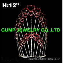 valentine's day tiara crown, heart tiara