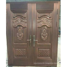 2 Pieces Elegant Entrance Security Steel Door
