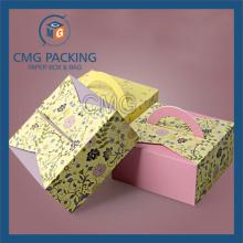 Квадратная бумага для печати логотипа Box Mooncake Box (CMG-box-027)