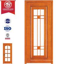 Portes de verre en bois MDF, porte de cuisine combinée ou portes de salle de bains