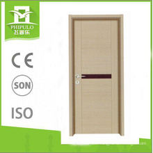 Office building MDF panel interior melamine wooden door from hot sale