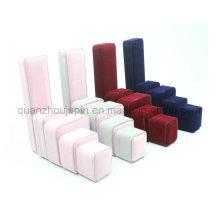 Boîte à bijoux de cadeau d'emballage d'emballage de suède d'OEM