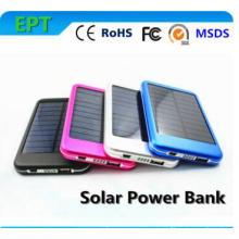 Cargador del panel del banco de la energía solar 6000mAh con la luz del LED