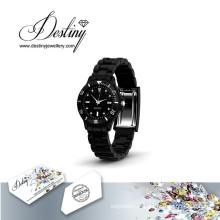 Destin bijoux cristal de Swarovski Joy en cuir montre