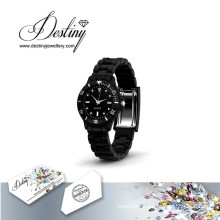 Destiny Jewellery Crystal From Swarovski Joy Leather Watch