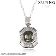 43241 Bijoux de mode Xuping Cristaux de Swarovski, collier de chaîne de couleur platine de couleur platine pour femmes