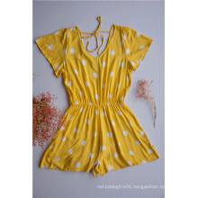 Yellow Polka Dot Jumpsuits