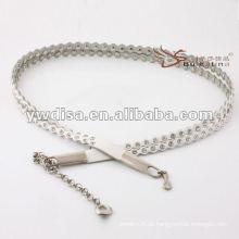 A cintura das mulheres da forma pavimentada com rhinestones no plutônio com projeto do tassel chain o mais melhor de YIWU DISHA