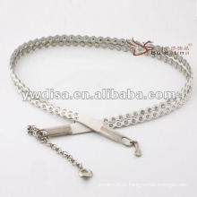 Талия женщин способа вымощена с rhinestones в ПУ с цепью tassel самая лучшая конструкция от YIWU DISHA