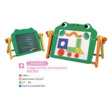 Panneau de dessin multifonction en bois Planche magnétique Panneau noir avec blocs pour enfants Jouets éducatifs Jouets de dessin