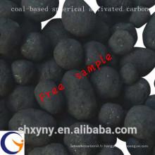 Charbon actif sphérique / à granulés de charbon professionnel pour le matériel de traitement de l'eau