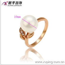 Popular Xuping Jewelry Rose Gold Color Pear Ring with Synthetic CZ