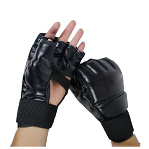 Factory Price Wrist Support Boxing Training Black Gloves