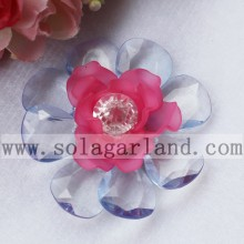 53MM Acrylic Bead Artificial Flowers With Diamond Center