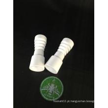 Enjoylife Feminino 14mm Domeless Ceramic Nail para tubo de água de vidro