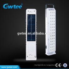 Luz de emergencia solar llevada recargable llevada