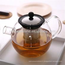 Vente chaude utile cadeau promotionnel personnalisé en verre résistant à la chaleur Borosilicate Tea Sets avec une boîte-cadeau