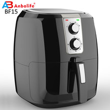 Freidora de aire eléctrica con control de temperatura, cesta para freír antiadherente de 5,5 L, freidora de aire extra grande