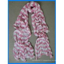 Rayures de coton en crinkel distributeur de foulard korea