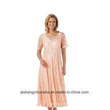 Mulheres Chiffon V-Nevk Mãe da noiva vestido de baile