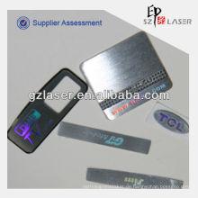Benutzerdefinierte Metall-Logo-Etiketten für Handtaschen, Metall Etiketten Etiketten