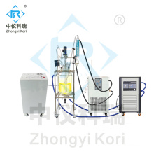 laboratory reactor with jacket reactor for heating cooling