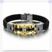 Bijoux fantaisie Bijoux en cuir Bracelet en cuir (LB110)