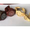 Venta caliente de moda de encargo de madera cara venta al por mayor hombres mujeres reloj de madera