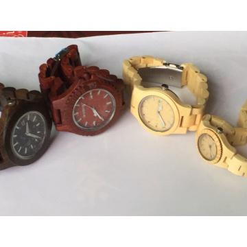 Venda quente de madeira cara personalizado vogue atacado homens mulheres relógio de madeira