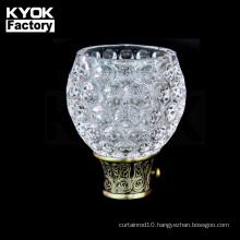 KYOK Mosaic Curtain Rod Finials Economical Crystal Glass Finials For Curtain Rods Dowel Rod End Caps M913