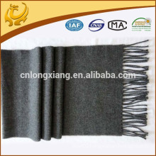 OEM custom SGS certificate fashion accessories plain wool shawls grey