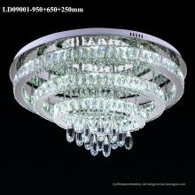 3 Ringe Kronleuchter Kristall LED Licht Innen Deckenleuchte